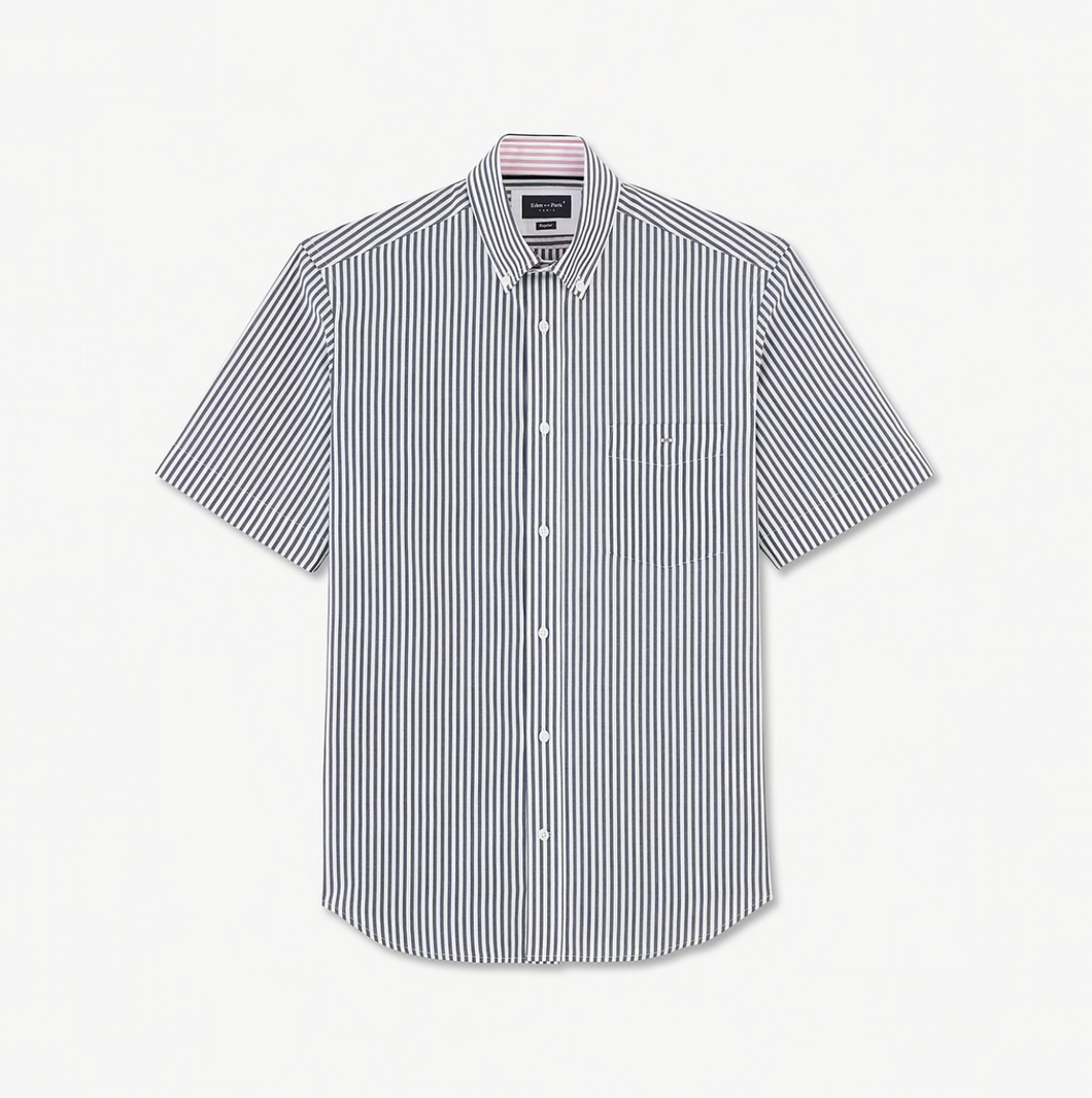 Eden Park Navy Stripe Short Sleeve