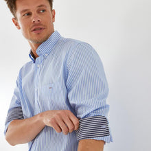 Load image into Gallery viewer, Eden Park Stripe Shirt Blue