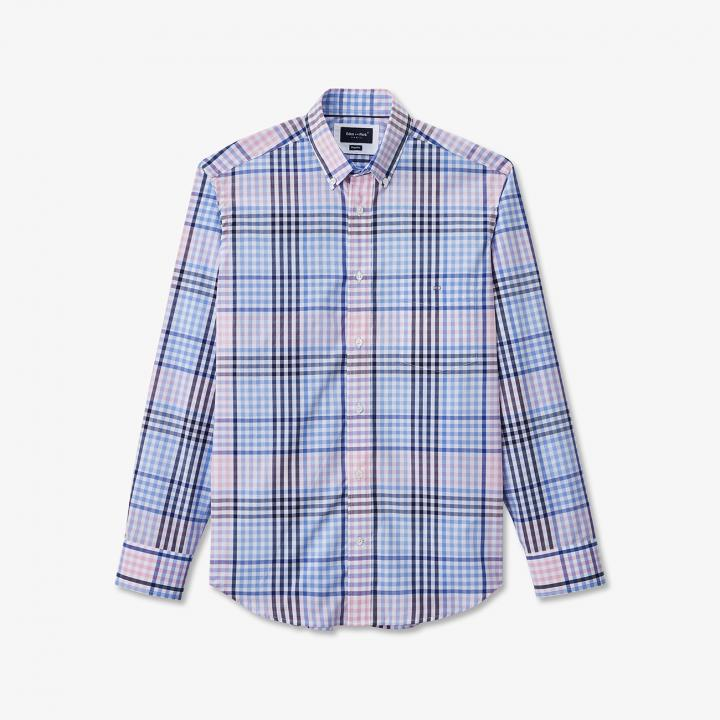 Eden Park Check Shirt Pink Blue
