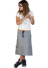 organic cotton skirt, organic hemp skirt, hemp skirt, green organic skirt, grey organic skirt, grey hemp skirt, organic cotton fashion, organic cotton womens fashion, organic cotton clothing, organic clothes made in america, hemp clothes made in america, clothes made in america, skirt with cargo pockets, organic skirt with cargo pockets, hemp skirt with cargo pockets