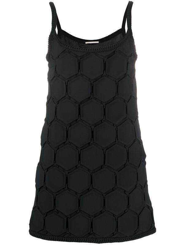 Minidress plissettato nero