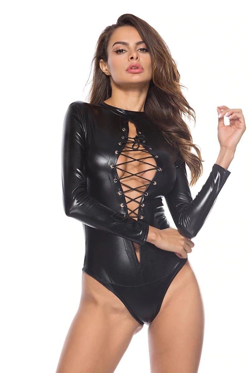 Babydoll Sexy Leather Lingerie | Sexy Lingerie Canada