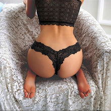 Load image into Gallery viewer, Black Sexy Lace Panties | Sexy Lingerie Canada