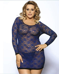 Blue Long Sleeve Plus Size Lingerie for Women | Sexy Lingerie Canada