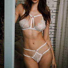 Load image into Gallery viewer, Embroidery Lace Erotic Bra Set | Sexy Lingerie Canada