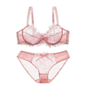 Erotic Embroidered Transparent Bra & Underwear set | Sexy Lingerie Canada