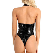 Load image into Gallery viewer, Erotic Leather Mesh Transparent Lace Bodysuit | Sexy Lingerie Canada