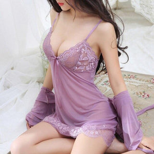 Fun Transparent Strap Babydoll Nightdress | Sexy Lingerie Canada
