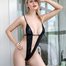 Load image into Gallery viewer, Leather Babydoll Bandage Lingerie | Sexy Lingerie Canada