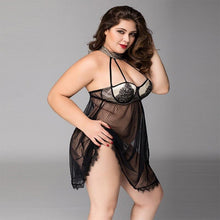 Load image into Gallery viewer, Plus Size Black Transparent Erotic Dress | Sexy Lingerie Canada