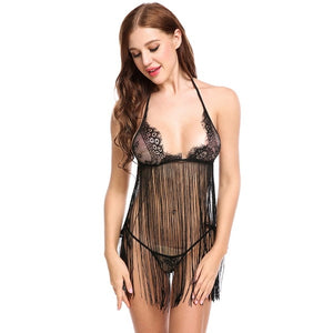 Women Sexy Erotic Lingerie Hot Set Tassel Nightdress | Sexy Lingerie Canada