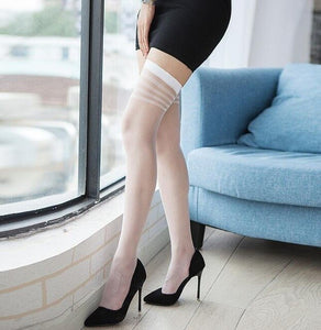 Women Sexy Medias Compression Nylon Long Thigh High Stockings | Sexy Lingerie Canada