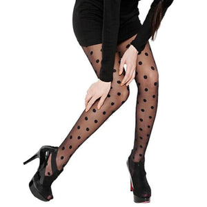 Women Sexy Sheer Lace Big Dot Pantyhose | Sexy Lingerie Canada
