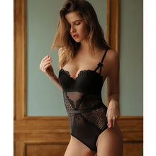Load image into Gallery viewer, Women Sexy Lingerie Lace Push Up Balconette Hollow Out Bodysuit | Sexy Lingerie Canada