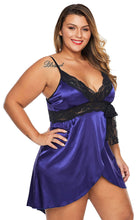 Load image into Gallery viewer, Women Plus Size Woman Lace Satin Nightdress | Sexy Lingerie Canada