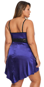 Women Plus Size Woman Lace Satin Nightdress | Sexy Lingerie Canada