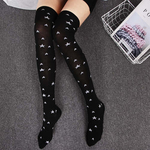 Women Sexy Soft Dot Star Style Cotton Stockings | Sexy Lingerie Canada
