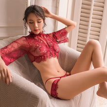 Load image into Gallery viewer, Women Seduction Sleepwear Lace made 2 Piece Set | Sexy Lingerie Canada
