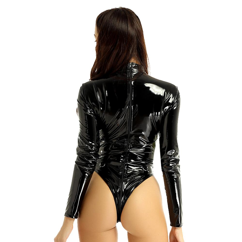 Womens Wetlook Leather Sexy Body Lingerie | Sexy Lingerie Canada
