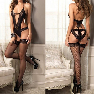 Women Sexy Lace Splice Black Stockings | Sexy Lingerie Canada
