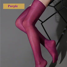 Load image into Gallery viewer, Women Sexy Oil Shine Thigh High Stockings | Sexy Lingerie Canada