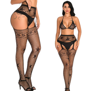 Women Tights With Rhinestones Sexy Patterned Tight High Waist Stocking | Sexy Lingerie Canada