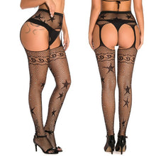 Load image into Gallery viewer, Women Tights With Rhinestones Sexy Patterned Tight High Waist Stocking | Sexy Lingerie Canada