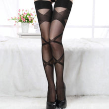 Load image into Gallery viewer, Women Sexy Thigh-Highs Ultra Thin Stripes Stockings | Sexy Lingerie Canada
