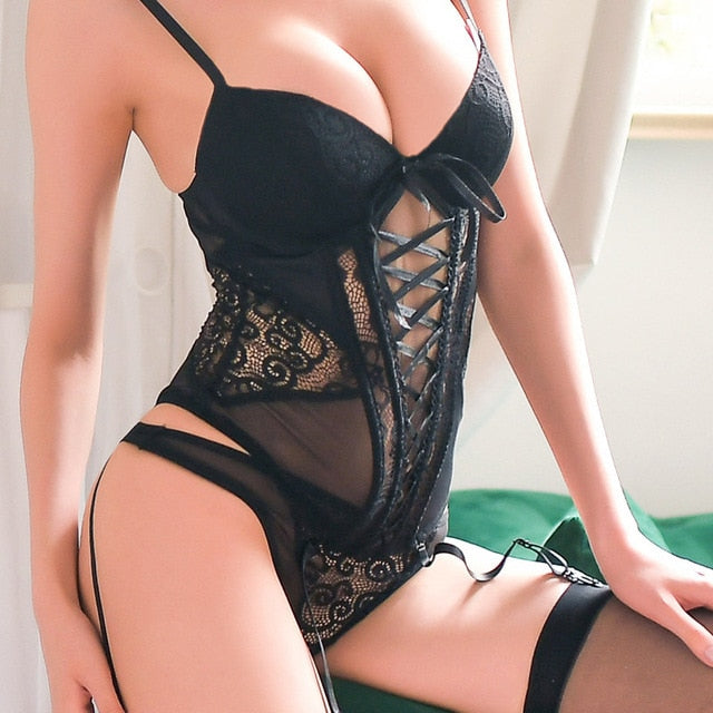 Women's Sexy Corset Lace Up with Breathable Fabric | Sexy Lingerie Canada