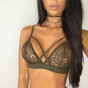 Women Sexy Floral Triangle Soutien Push Up Bra | Sexy Lingerie Canada