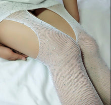 Load image into Gallery viewer, Women Sexy Crystal Fishnet Stockings | Sexy Lingerie Canada