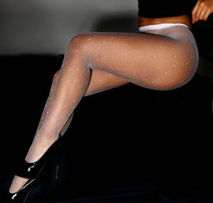 Women Sexy Crystal Fishnet Stockings | Sexy Lingerie Canada