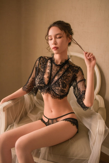 Women Seduction Sleepwear Lace made 2 Piece Set | Sexy Lingerie Canada