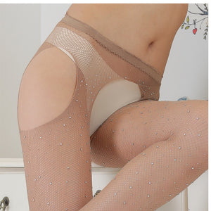 Women Rhinestone Thigh High Stockings | Sexy Lingerie Canada