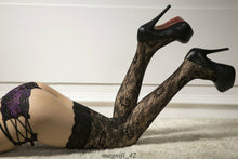Load image into Gallery viewer, Women Sheer Lace High Hold-Up Stockings | Sexy Lingerie Canada