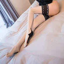Load image into Gallery viewer, Women Sexy Cuban Heel Back Seam Stockings | Sexy Lingerie Canada