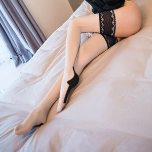 Women Sexy Cuban Heel Back Seam Stockings | Sexy Lingerie Canada