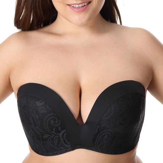 Women's Push Up Lace Strapless Bra | Sexy Lingerie Canada