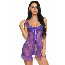 Load image into Gallery viewer, Women Sexy Babydoll Open Front Nightwear | Sexy Lingerie Canada