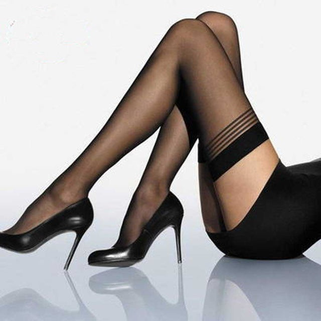 5D Sexy Striped Stockings Ladies Cosplay