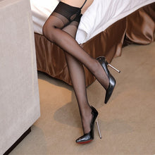 Load image into Gallery viewer, Women Sexy Stockings Over The Knee Lace Cuban Heel Back Seam Stockings | Sexy Lingerie Canada
