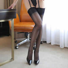 Load image into Gallery viewer, Women Rib Top Cuff Sexy Stockings | Sexy Lingerie Canada