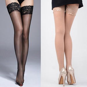 Women's High Stockings Lace Top