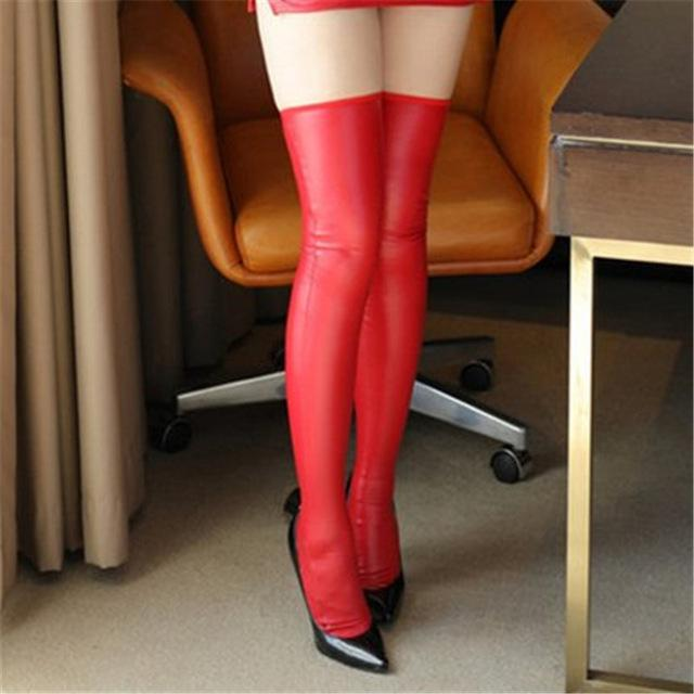 PU Leather Cosplay Knee High Stockings | Sexy Lingerie Canada