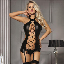 Load image into Gallery viewer, PU Leather Dress | Sexy Lingerie Canada
