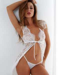 Sexy Lace Transparent Babydoll Lingerie | Sexy Lingerie Canada