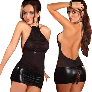 Sexy Leather Splice Open Lingerie | Sexy Lingerie Canada
