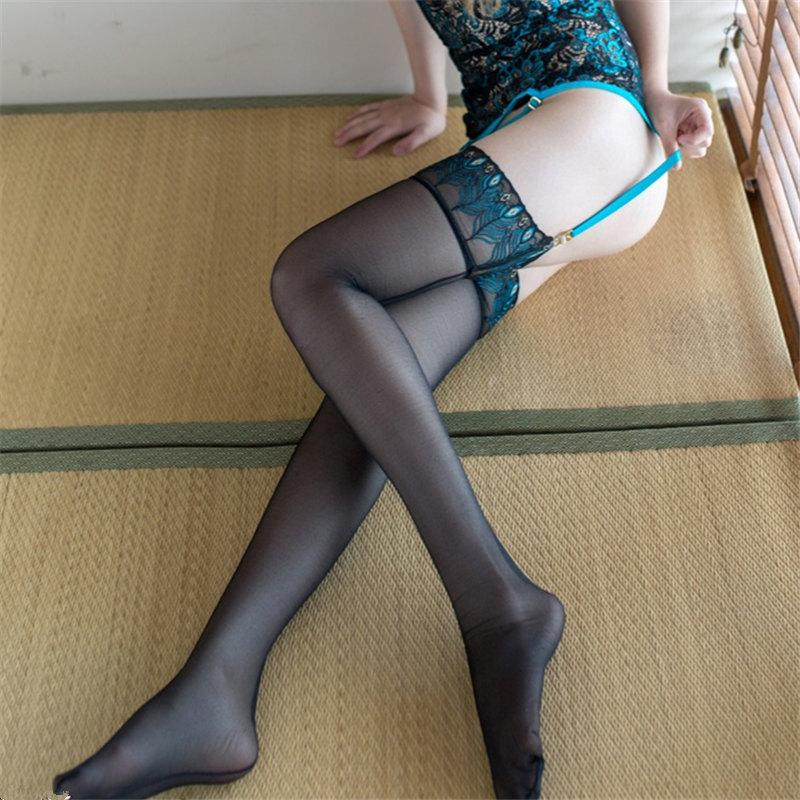 Sexy Peacock Pattern Ultra Elastic Stockings | Sexy Lingerie Canada