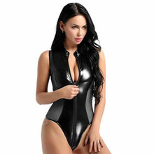 Load image into Gallery viewer, Sexy Perspective Women Faux Leather Bodysuit | Sexy Lingerie Canada