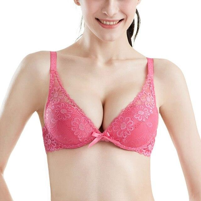 Sexy Push Up Bra Gathed Lace Padded High Quality Brand Bra | Sexy Lingerie Canada